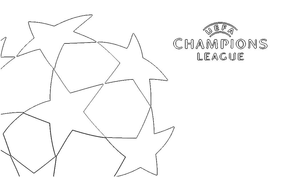 disegno di Logo Uefa Champions League da colorare