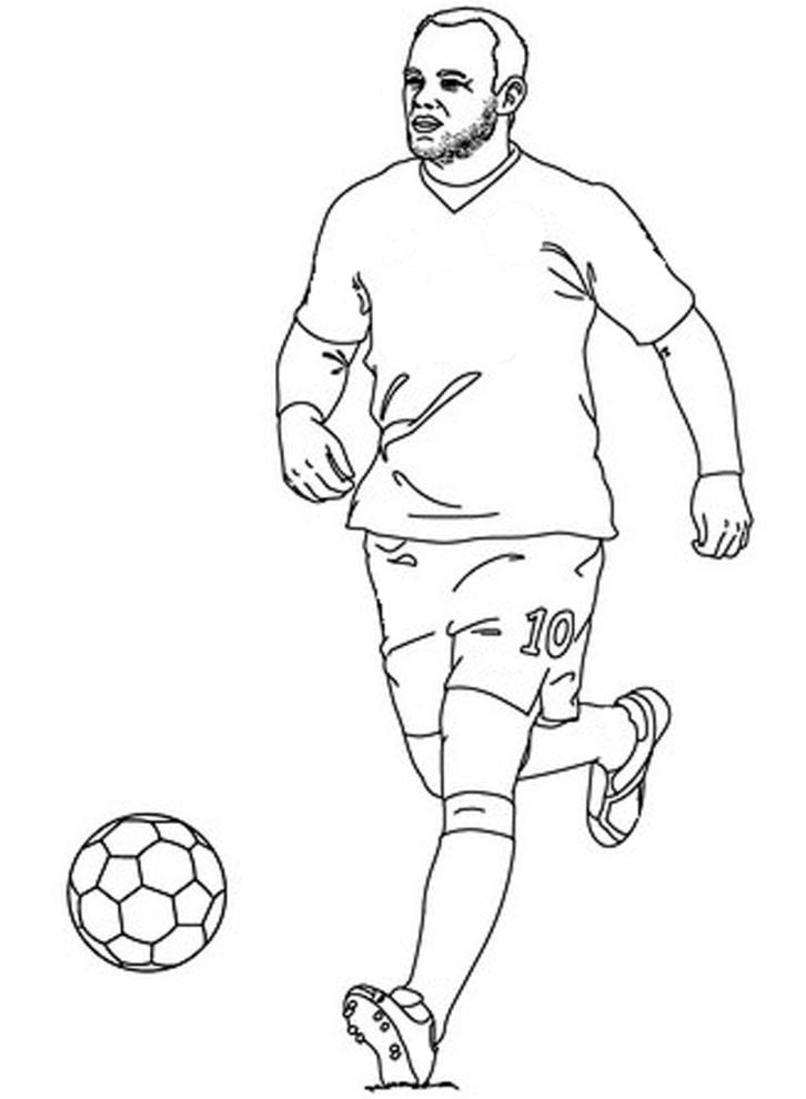 disegno di calciatore da colorare