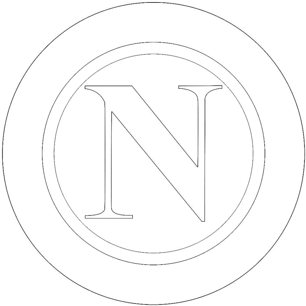 Stampa disegno di stemma del napoli da colorare for Calciatori da colorare per bambini