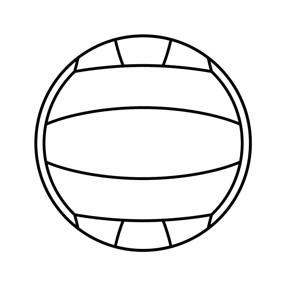 Disegno Pallone Da Colorare.Stampa Disegno Di Pallone Da Pallavolo Da Colorare