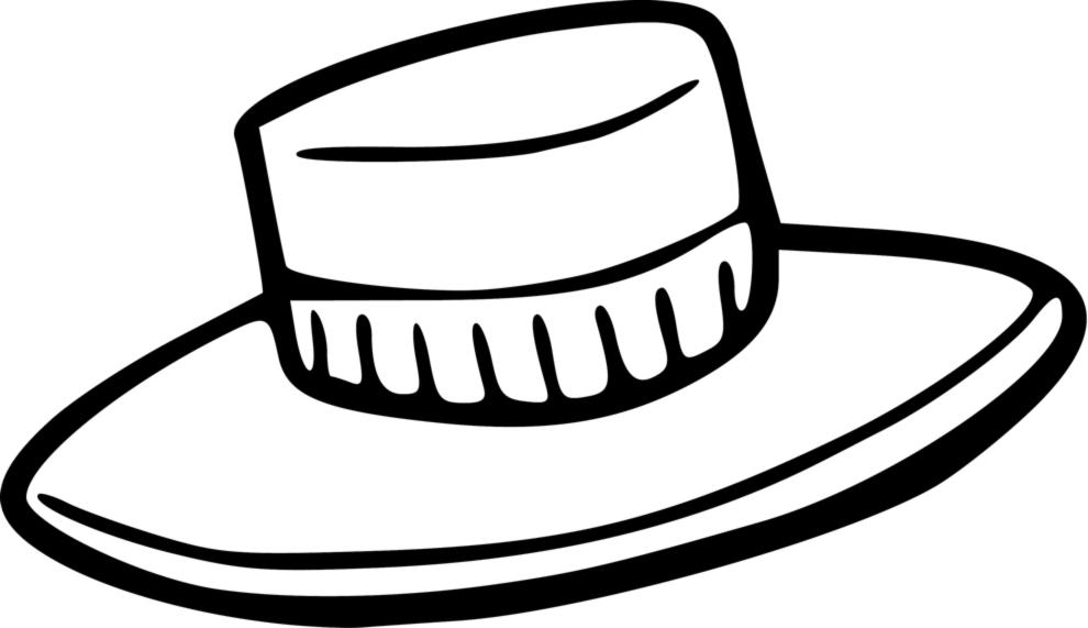 Stampa disegno di cappello da colorare for Disegni di zorro da colorare per bambini