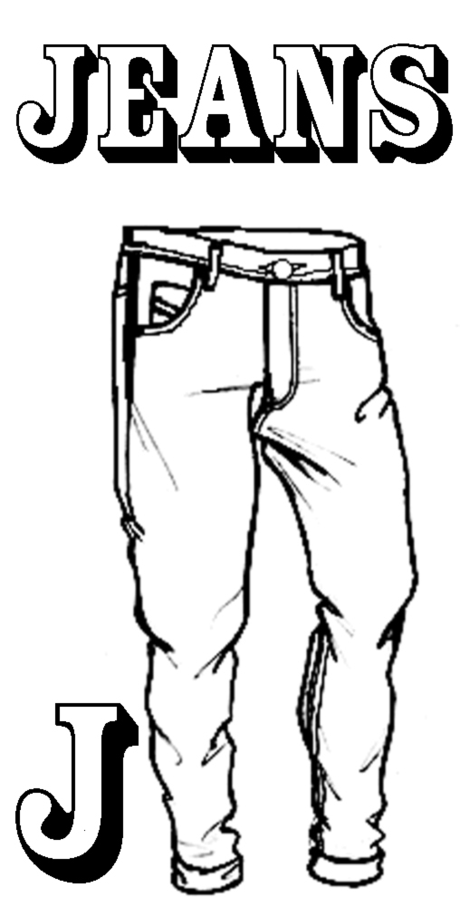 Jeans Colouring Pages