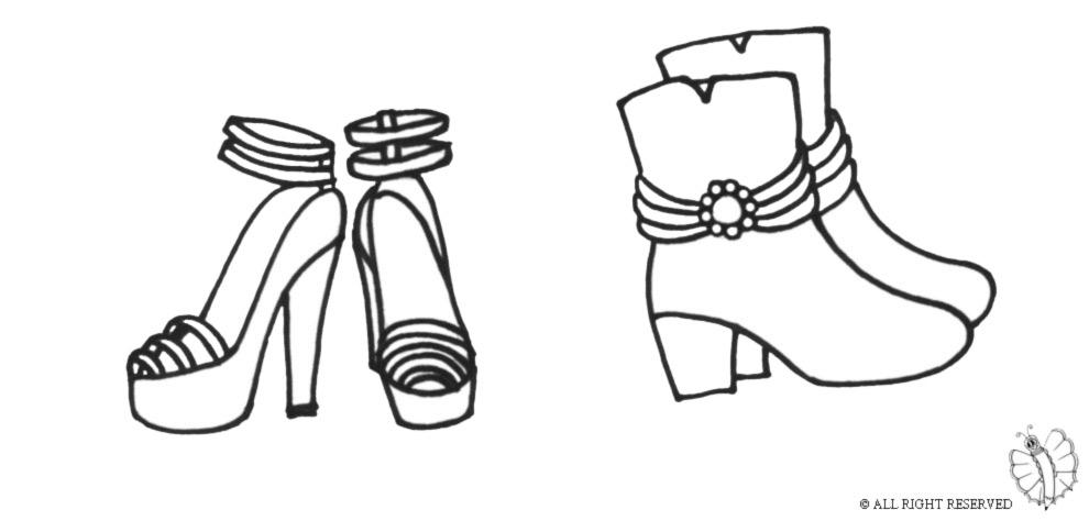 disegno di Scarpe da colorare