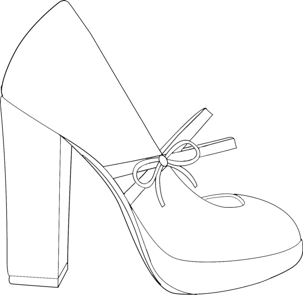 Stampa disegno di scarpa da donna da colorare for Disegni di casa alla moda